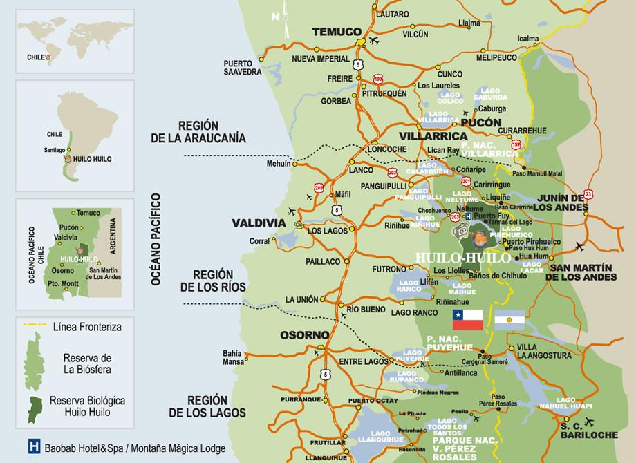 Cómo llegar desde Santiago a Villarrica - distanciasentre.com