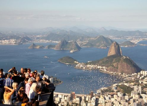 6-hour tour of the Christ the Redeemer, the Sugar Loaf and the Staircase of Selaron. Rio de Janeiro, BRAZIL