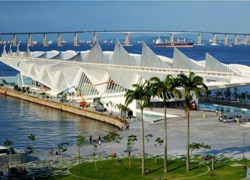 Entrance to the Museum of Tomorrow. Rio de Janeiro, BRAZIL