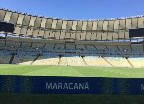 Maracana Stadium behind the scenes. Rio de Janeiro, BRAZIL