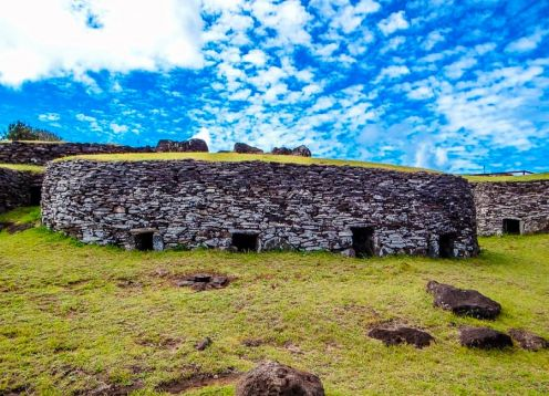 HALF DAY TOUR A ORONGO. Easter Island, CHILE