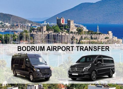 Transfer from Bodrum airport in Turkey to hotels in Kadikalesi. Bodrum, Turkey