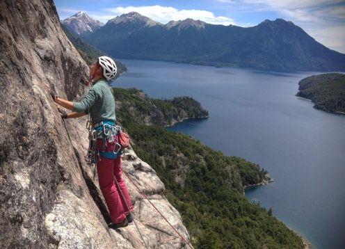 Rock climbing one day from Bariloche. Bariloche, ARGENTINA