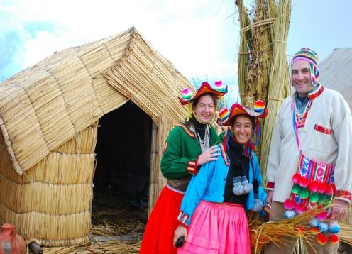 Private full day excursion to the floating islands of Uros and Taquile. Puno, PERU