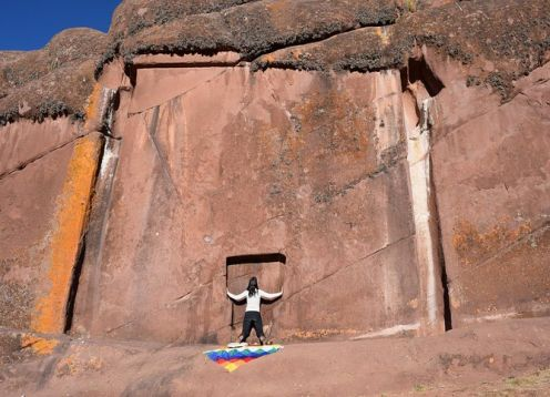 Private portal of Aramu Muru, Chucuito and Inca Uyo de Puno. Puno, PERU