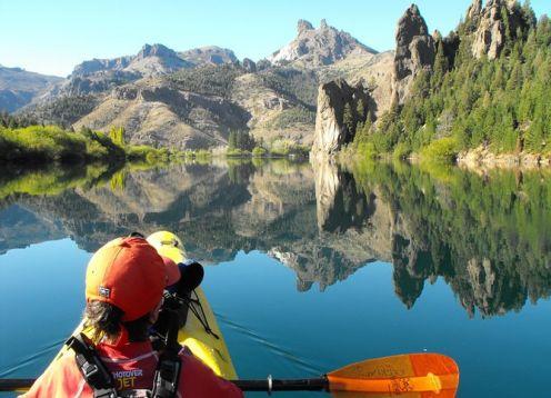 Excursion de medio dia en kayak por el lago Gutierrez desde Bariloche. Bariloche, ARGENTINA