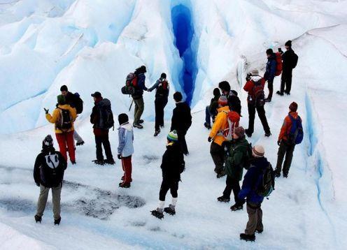 Aventura en El Calafate, trekking por el glaciar Perito Moreno. El Calafate, ARGENTINA