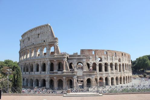 Ancient Rome, Colosseum, Forum and Palatine.. Rome, ITALY