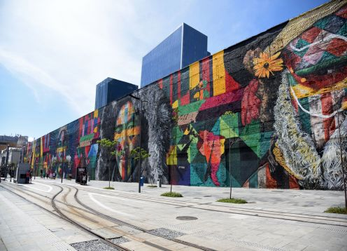Exploring the historic center of Rio with the Museum of Tomorrow. Rio de Janeiro, BRAZIL