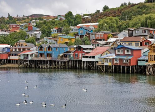 Excursion a Chiloe, visitando Ancud, Caulin y Lacuy. ,