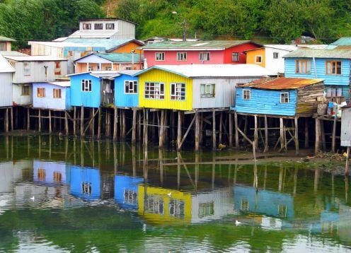 ISLA GRANDE DE CHILOE, VISITANDO ANCUD, CASTRO Y DALCAHUE. ,