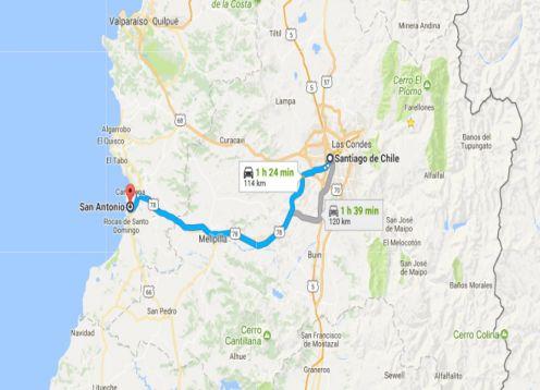 Transferência do Porto de San Antonio para Santiago. San Antonio, CHILE