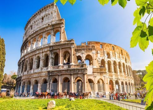 Ancient Rome, Colosseum, Forum and Palatine.. Roma, ITALY