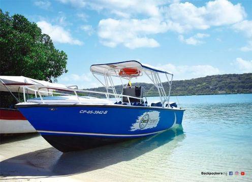 Tour en bote deportivo a Islas del Rosario, Barú, Cholon y Playa Blanca. Cartagena de Indias, COLOMBIA
