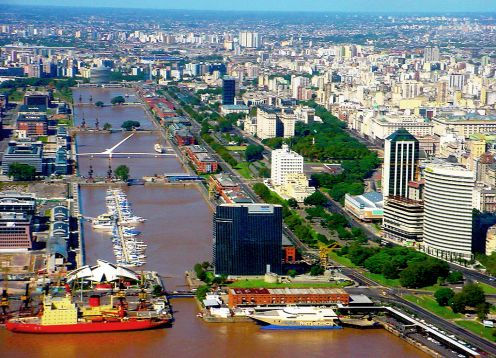 Buenos Aires City Tour and Navigation on the La Plata River. Buenos Aires, ARGENTINA