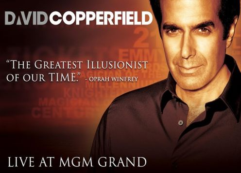 David Copperfield at the MGM Grand Hotel and Casino. Las Vegas, NV, UNITED STATES