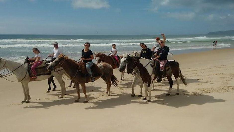 Riding on the Florianopolis  Beach. Florianopolis, BRAZIL
