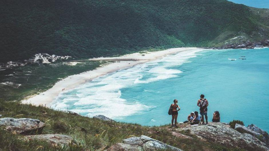 Trail of Lagoinha do Leste. Florianopolis, BRAZIL