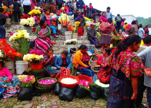 Tour to Chichicastenango and Lake Atitlan. Guatemala city, Guatemala