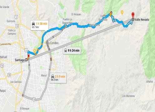 Transporte de Santiago para Valle Nevado ou Farellones ou V.V.. Santiago, CHILE